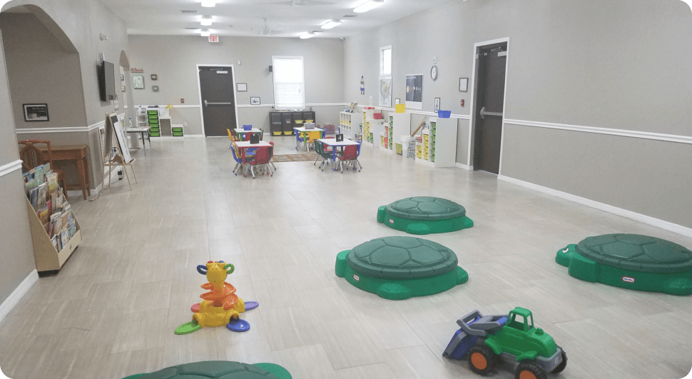 Class room with turtle chairs